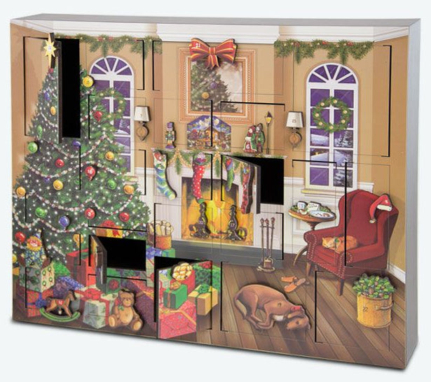 Fireside Advent Calendar / 25 Days of Christmas Gift Set with tea