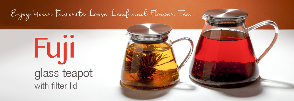 Fuji Glass Teapot - Blooms and Iced Tea