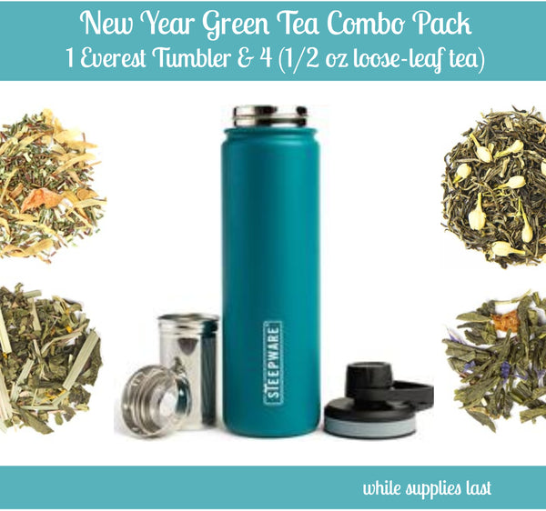 New Year Green Tea Combo Pack with Everest Tumbler