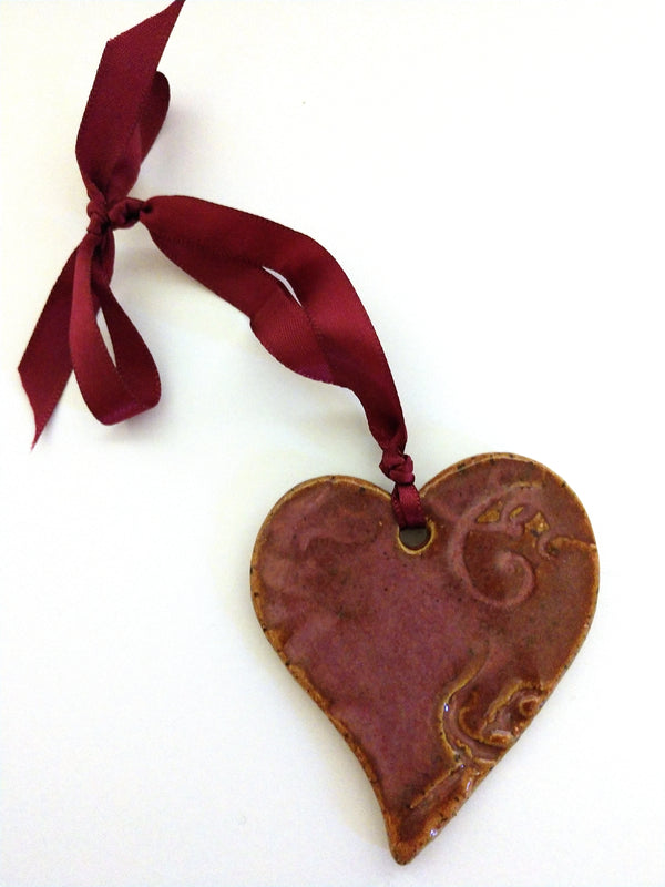 Ceramic Heart Ornaments