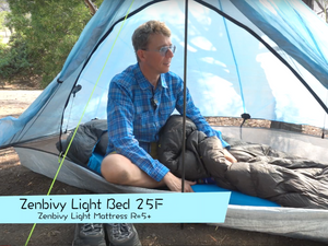Blue Boy Backpacker reviews the Zenbivy Light Bed 25°