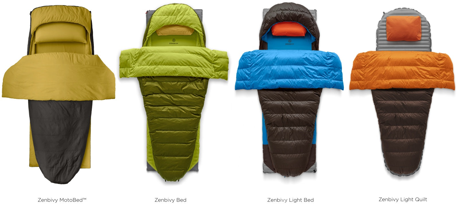 Our goal is to make sure you get what you need from your sleep system and that means matching your Zenbivy to your style of adventure.