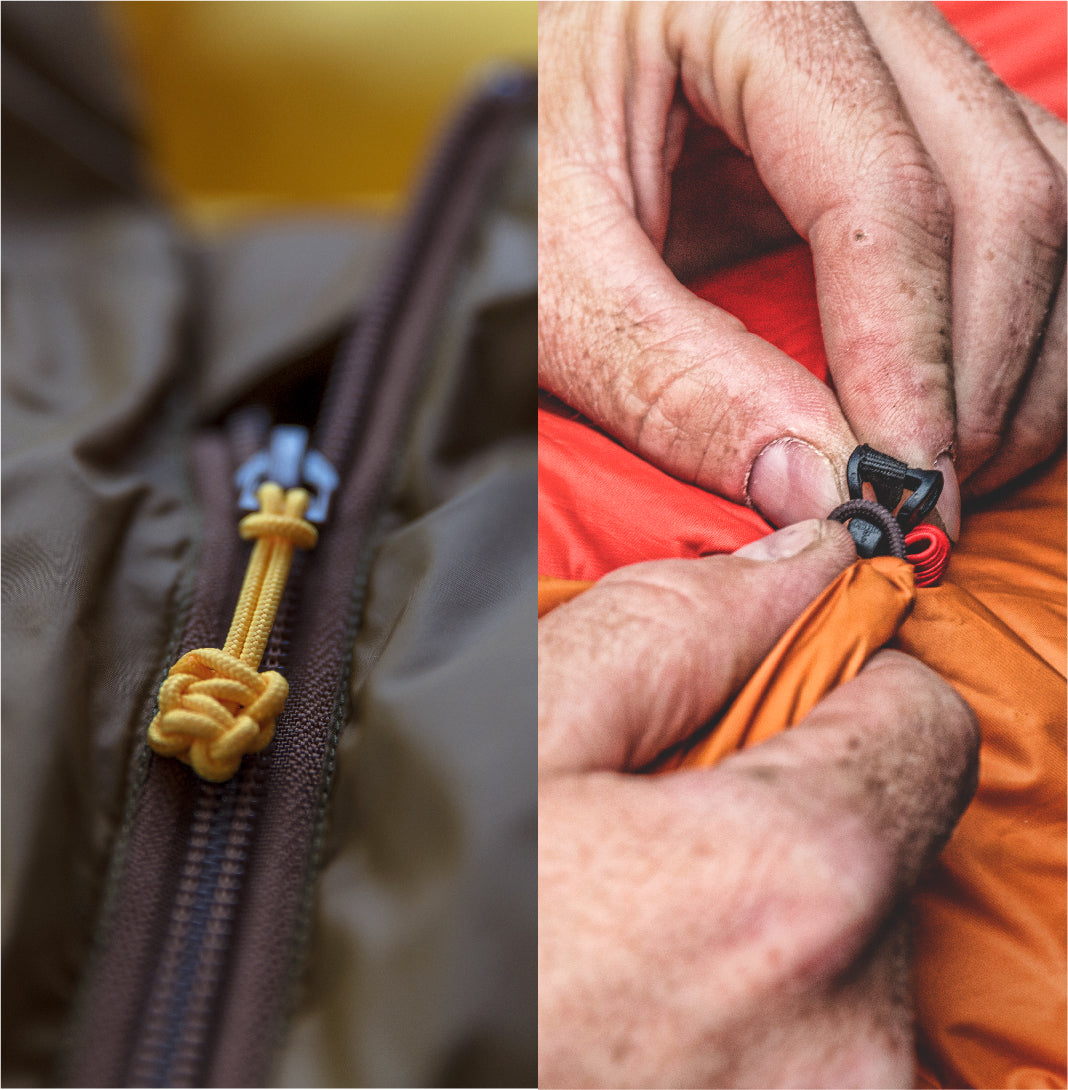The Zenbivy Bed uses zippers while The Zenbivy Light Bed sheds weight by utilizing hooks and loops for your ultralight adventures in the backcountry.