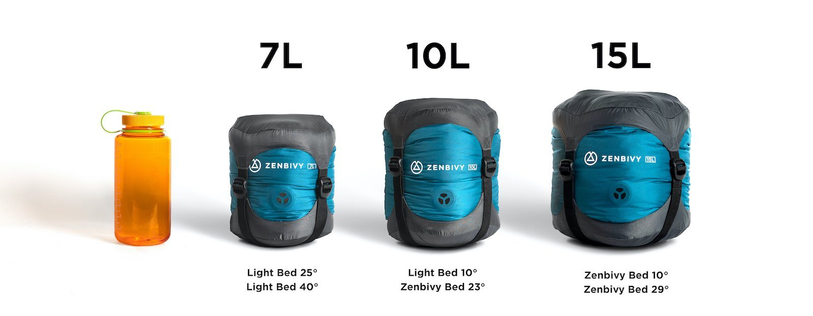 The Zenbivy Light Bed packs down roughly 20% smaller and weighs about 20% less than the original Bed.