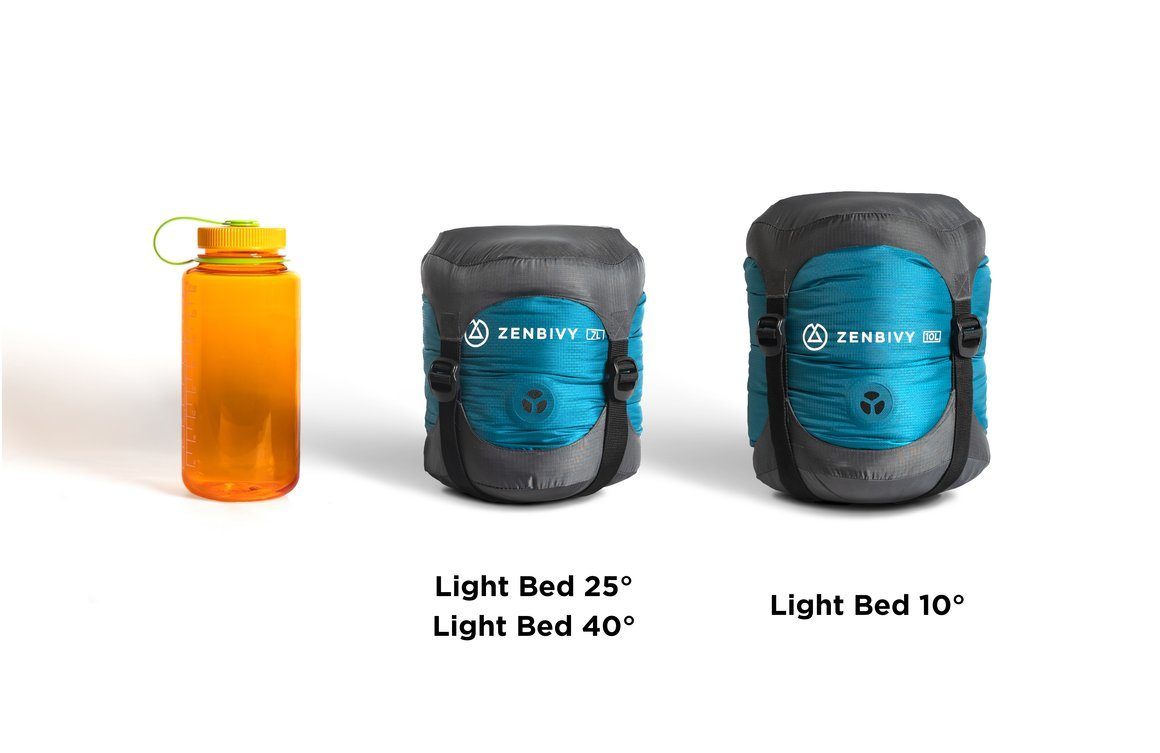 The Zenbivy Light Bed packs down 20% smaller than the original Zenbivy Bed.