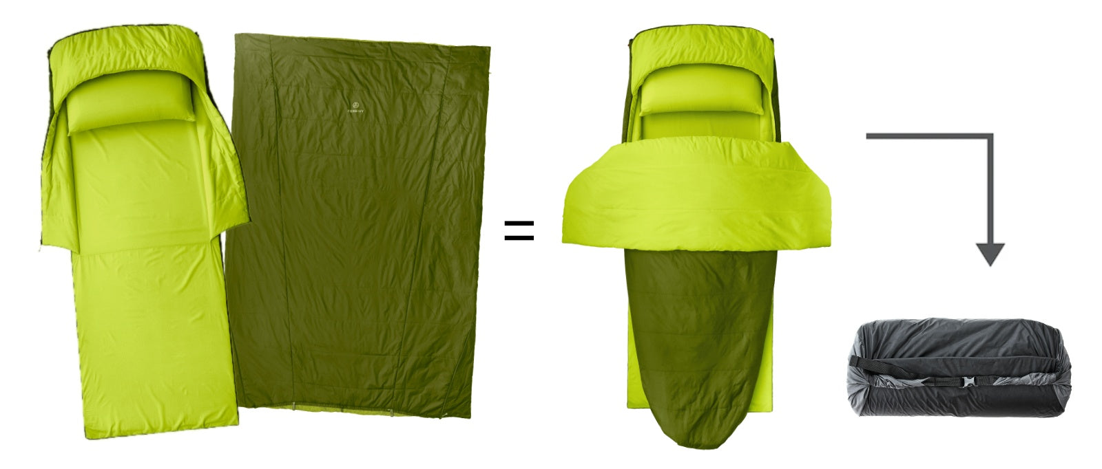 The Zenbivy MotoBed™ is a complete bed system optimized for car camping.  It includes everything you need (except your favorite pillow from home) to camp in luxury, no matter where you go.