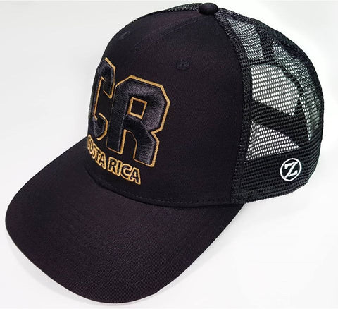 Gorra Zelva Costa Rica CR Black/Gold