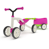 Bicicleta cuadraciclo ChillaFish Quadie Bike + Trailie rosa