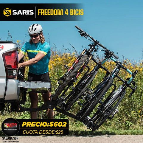 Rack portabici Saris Freedom 4 bike (soporta ebikes)