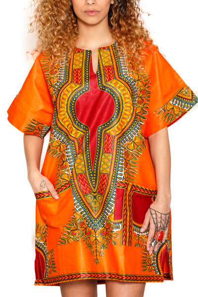 UNISEX DASHIKI ORANGE
