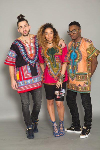 UNISEX DASHIKI POWDER PINK
