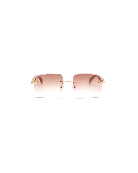VWC White Buffalo Horn Cat-Eye Sunglasses