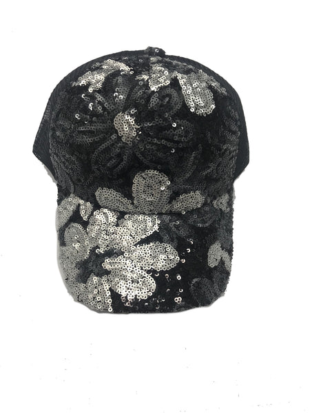 Sequins Flower Trackstrap Hat