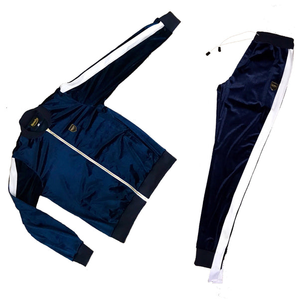 Navy Blue velour tracksuit