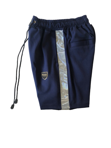 Navy Reflective shorts set