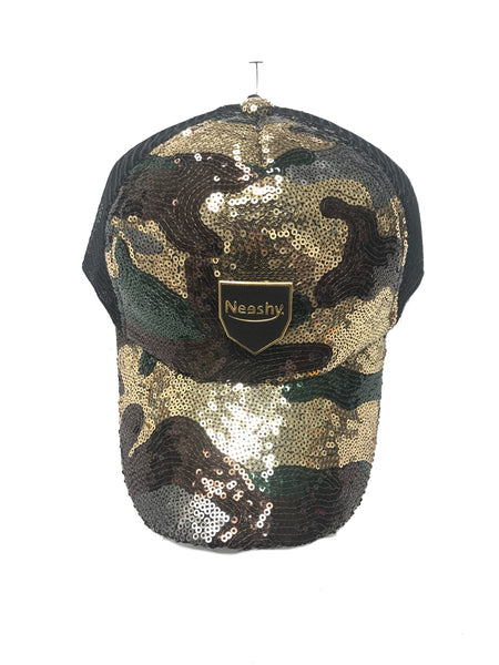 Sequins Fatigue Brown Trackstrap Hat