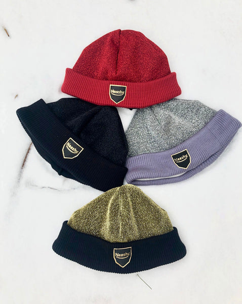 Metallic Winter toques