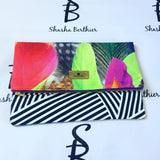 Peacock fold clutch bag
