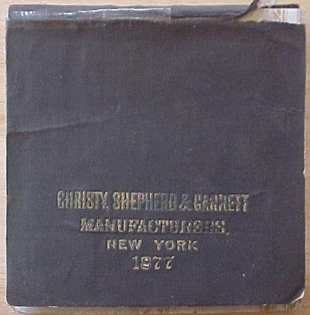 1877 Christy Shepherd & Garrett, Manufacturer