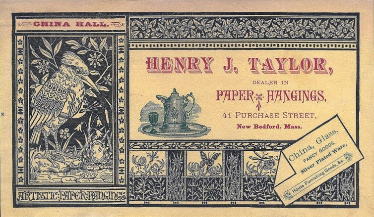 c.1880 Henry J. Taylor Trade Card
