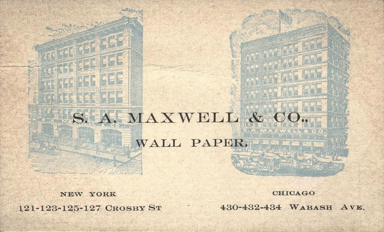 1890s S.A. Maxwell Trade Card