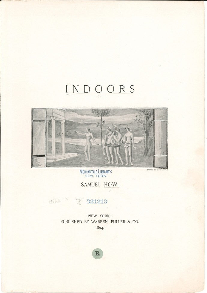 1894 Indoors by Samuel How for Warren Fuller