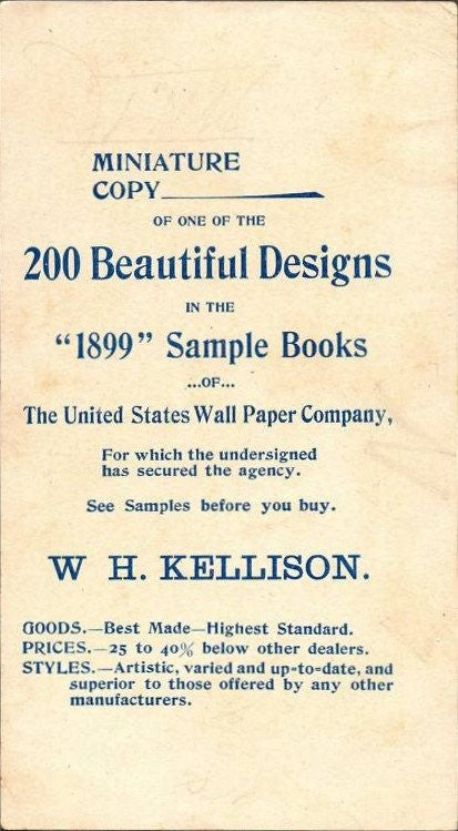 1899 United States Wall Paper Co