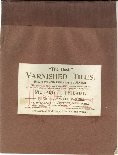 1904 Richard Thibaut Varnished Tiles, Jobber