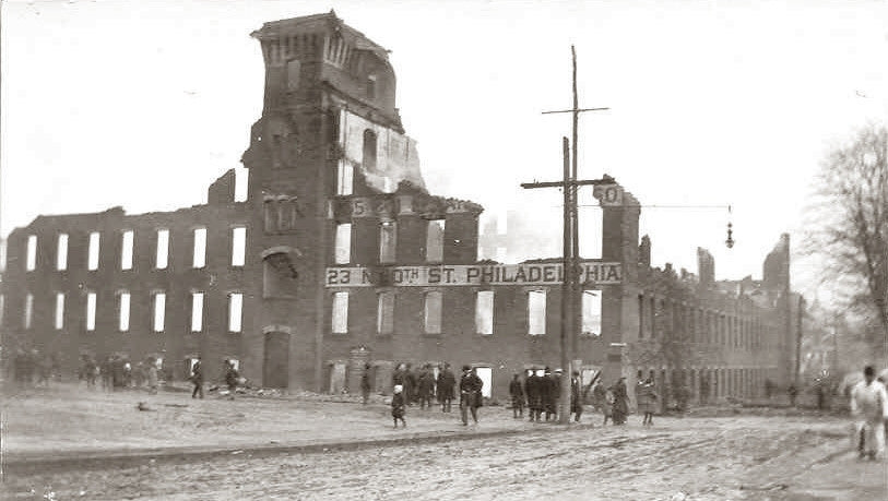 1907 Janeway & Carpender Factory, After Fire