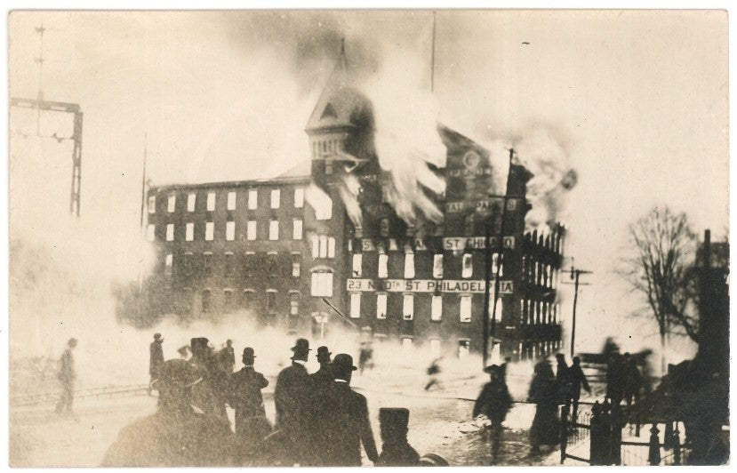 1907 Janeway & Carpender Factory, During Fire