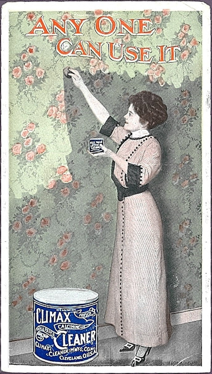 c.1910 Climax Wall Paper Cleaner Postcard