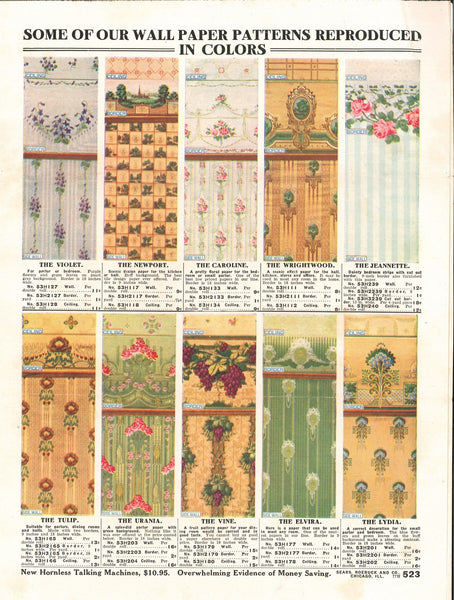 1910s Sears Paint & Wallpaper Cut Sheets