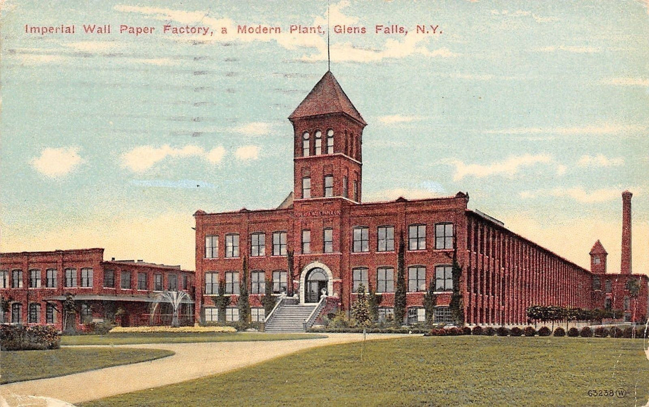 1913 Imperial Wallpaper Factory, Glens Falls NY