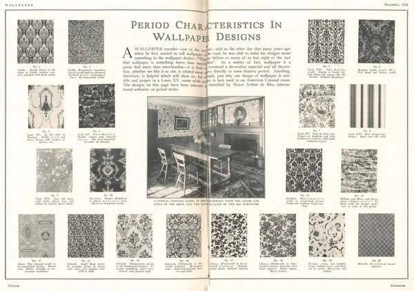 1924 December Wallpaper Magazine Period Styles