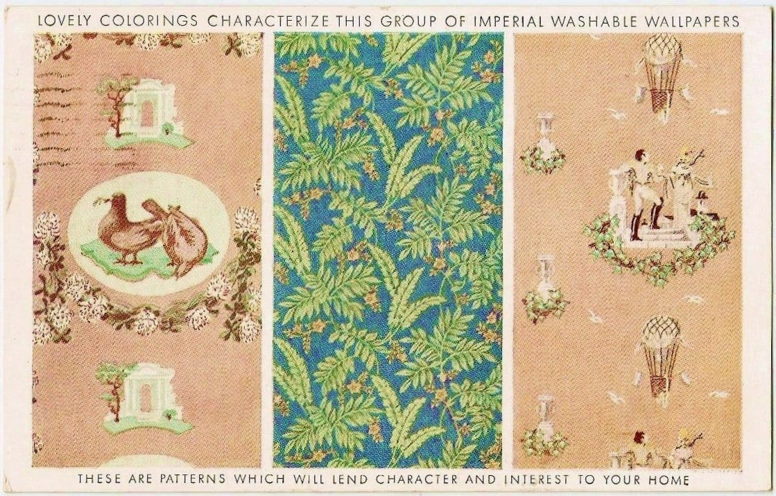 1937 Imperial Wallpaper Postcard