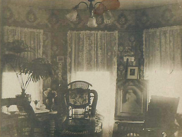 c.1900 Interior with Lace Curtains