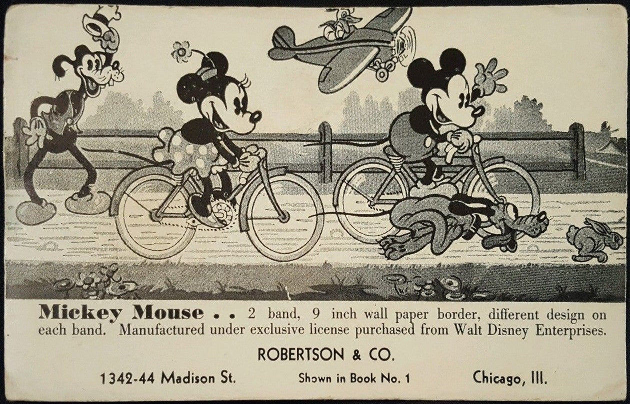 Mickey Mouse 2-Band Frieze Postcard
