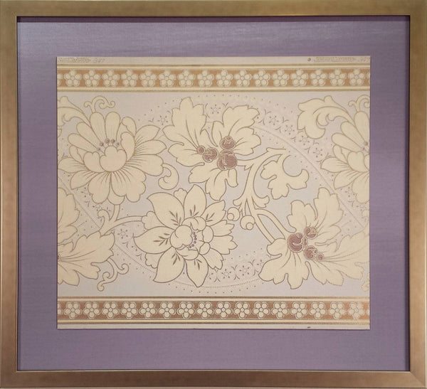 Embossed Gilt Frieze or Border - Framed Antique Wallpaper Art
