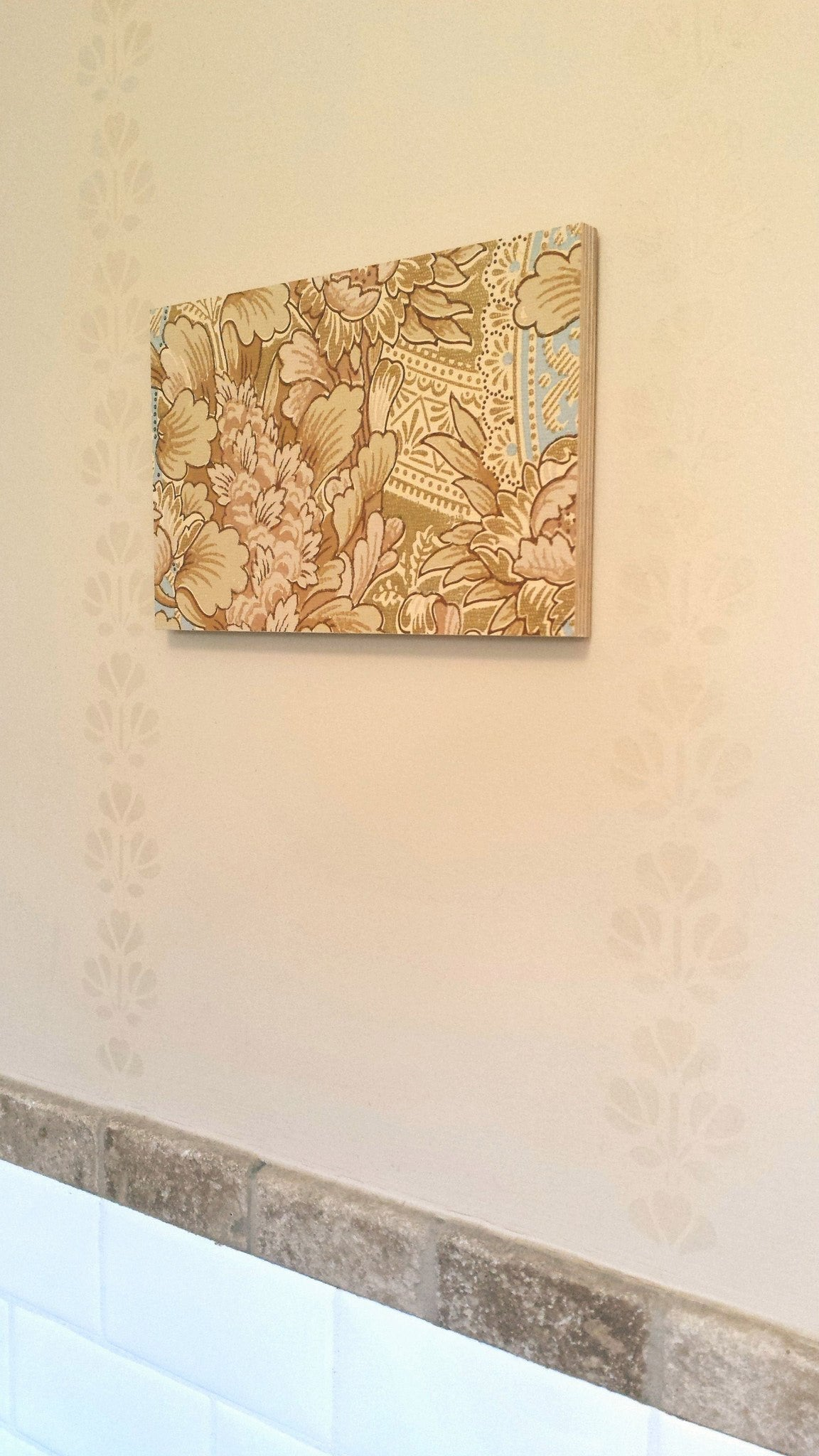 Aesthetic Era Gilt Floral - Mounted Antique Wallpaper Panel-Sold