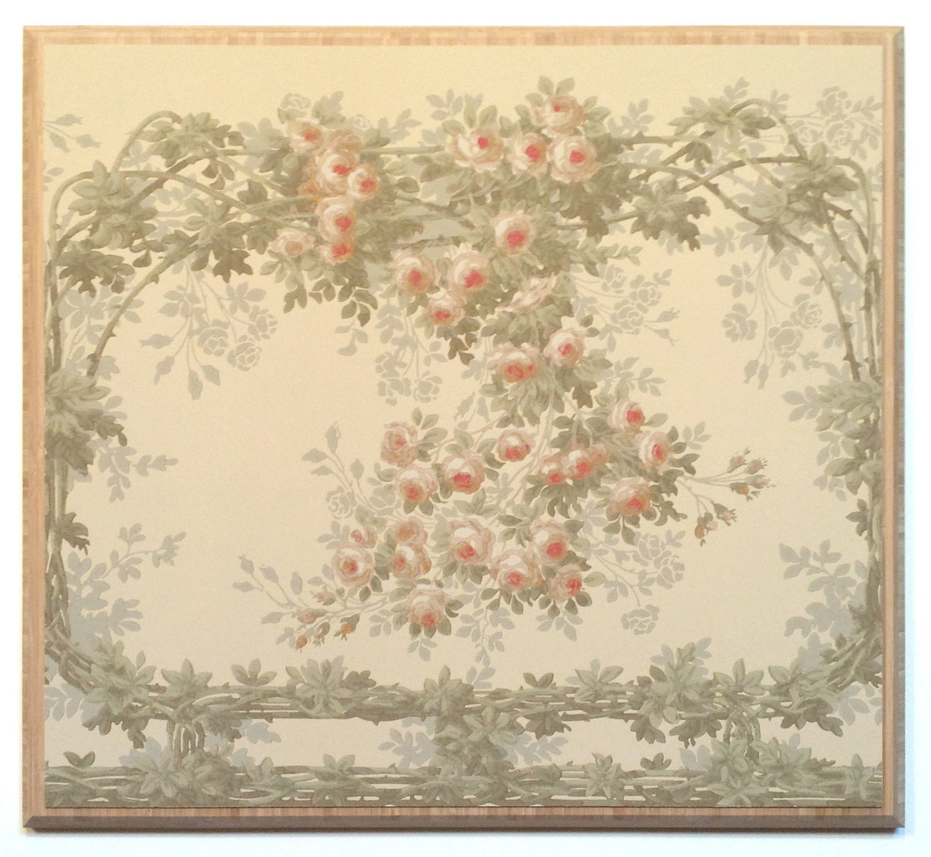 """The Briar Rose"" Intertwining Vine Frieze - Mounted Antique Wallpaper Panel-Sold"