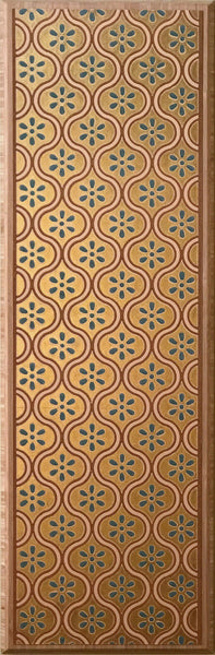 Piscine Gilt Border - Mounted Antique Wallpaper Panel