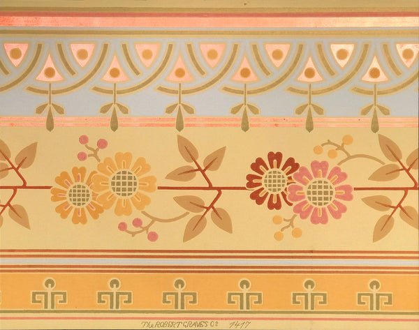 Graves Aesthetic ceiling border - Mounted Antique Wallpaper Panel