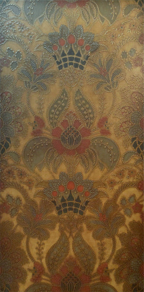 Elaborate Birge Tooled Leather - Sold - Mounted Antique Wallpaper Panel
