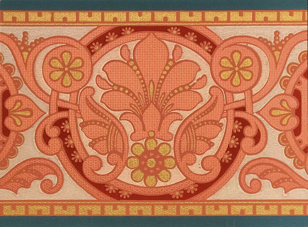 Aesthetic Foliate Border - Mounted Antique Wallpaper Panel