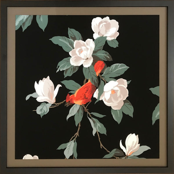 """Normandie"" Cardinal in Flowering Branches"