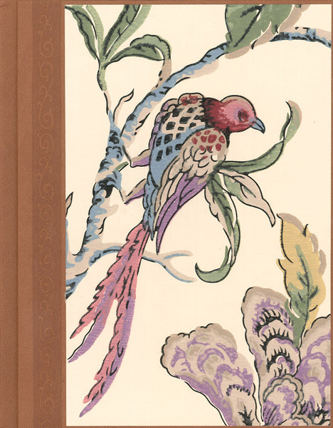 "Bird Antique Wallpaper Journal - 7"" x 9"""