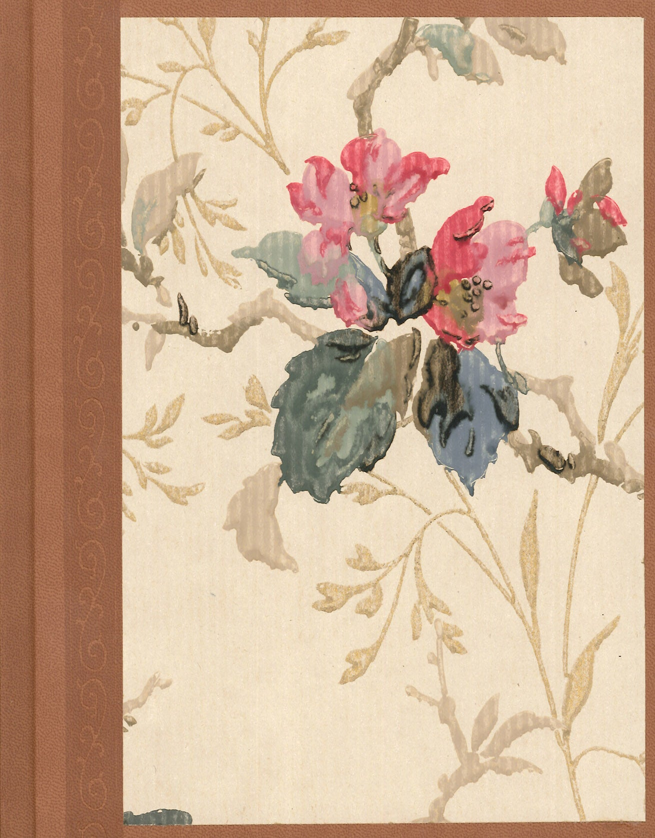 "Pastel Floral Antique Wallpaper Journal - 7"" x 9"""