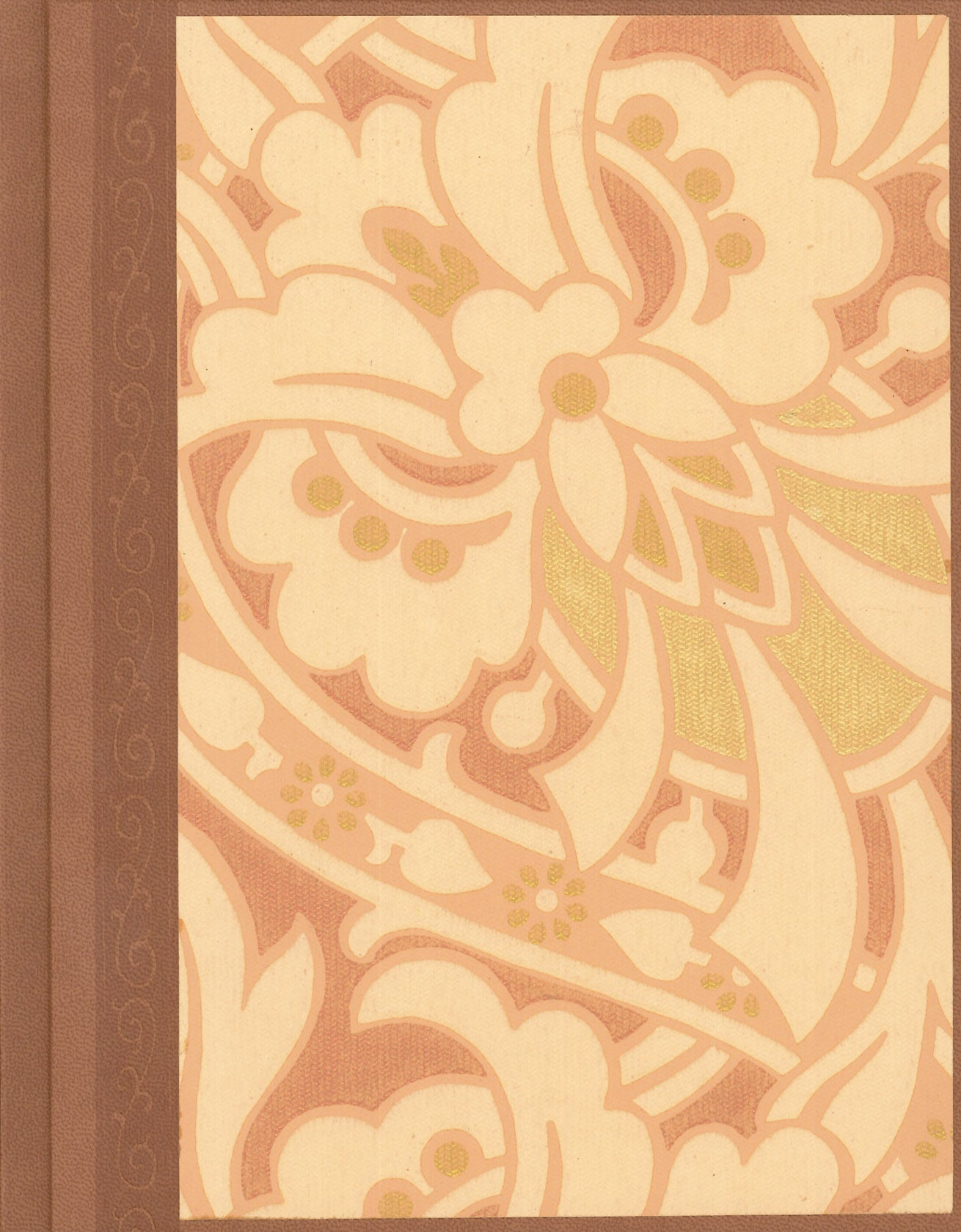 "Stylized Floral Antique Wallpaper Journal - 7"" x 9"""