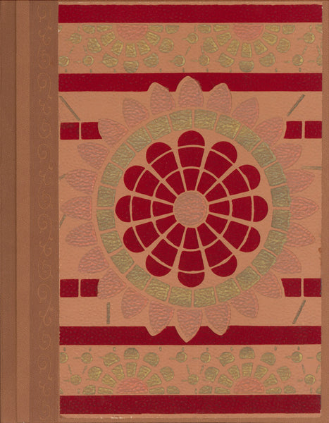"Stylized Sun - Antique Wallpaper Journal - 7"" x 9"""
