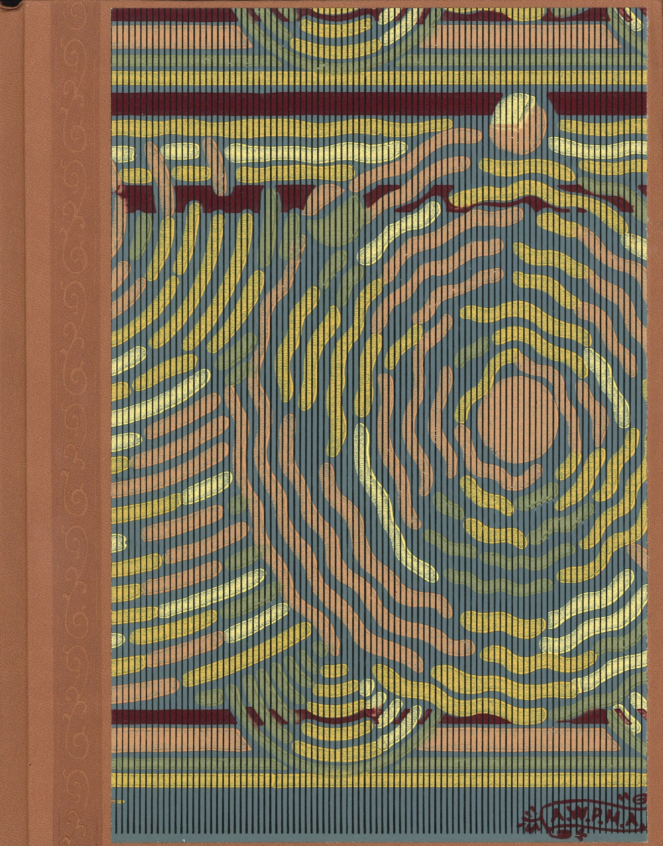 "Concentric Antique Wallpaper Journal - 8.5"" x 11"""